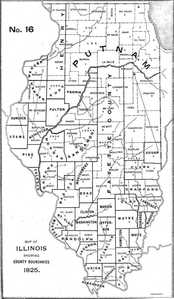 Illinois County Formation Map - Illinois county map