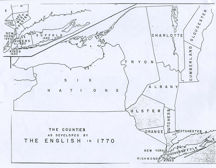 1770 New York State Map